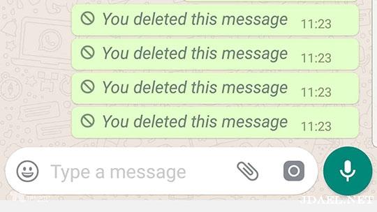 كيف أحذف رسائل واتساب whatsapp بعد ارسالها بساعة