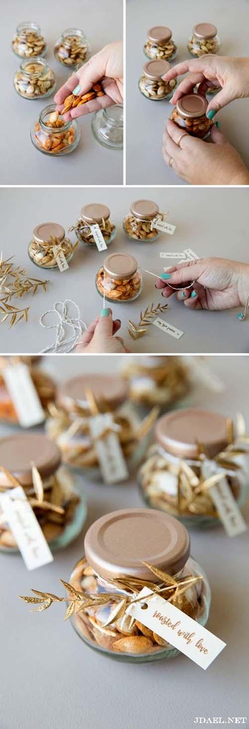 افكار تزيين الشوكولاتة والسكاكر للضيافة وهدايا الاطفال في السبوع والولادة