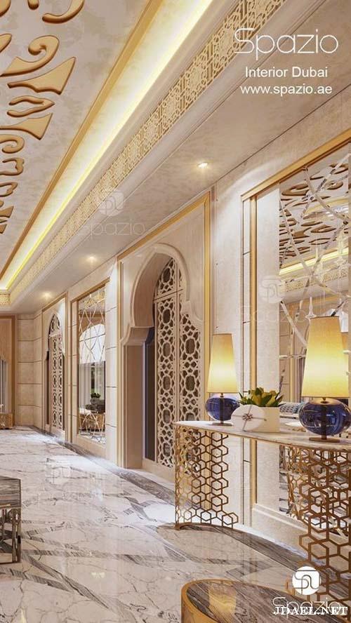 تصاميم جبس مغربي أسقف ممرات صالات غرف نوم واستقبال