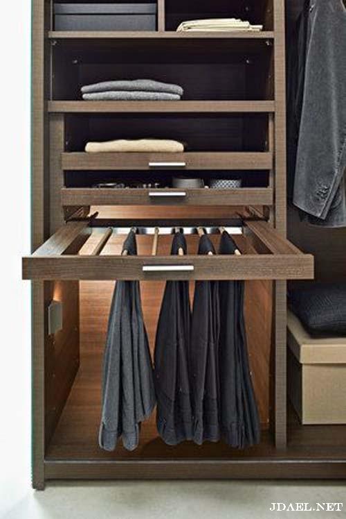 تصاميم ديكور خزانة الملابس أشكال دواليب تقسيمات مودرن