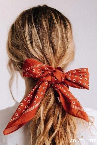 تسريحات الشعر بالاشاربات والبندانات اخر موضة
