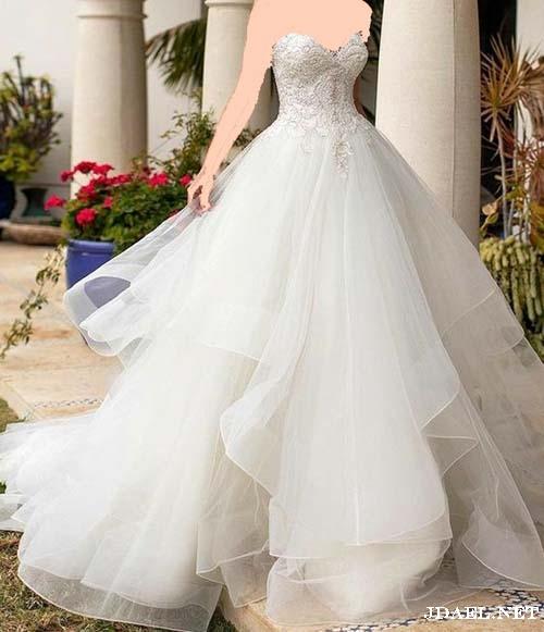 موديلات فساتين اعراس للعروسة بالدانتيل والاورجنزا