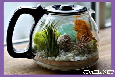 تزيين براد الشاي الشفاف بفكرة انيقة