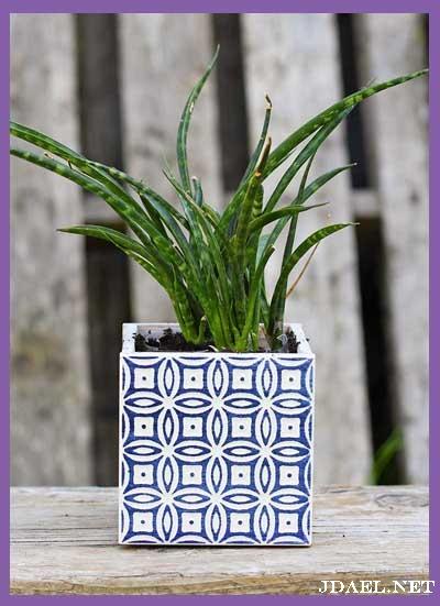 صناعة اصيص النبات بالسراميك بطريقة سهلة