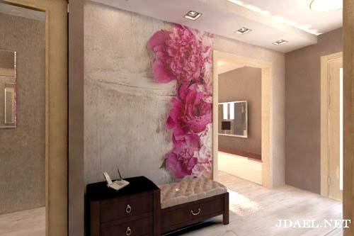 اناقة ورق الجدران في ديكور الممرات والمداخل