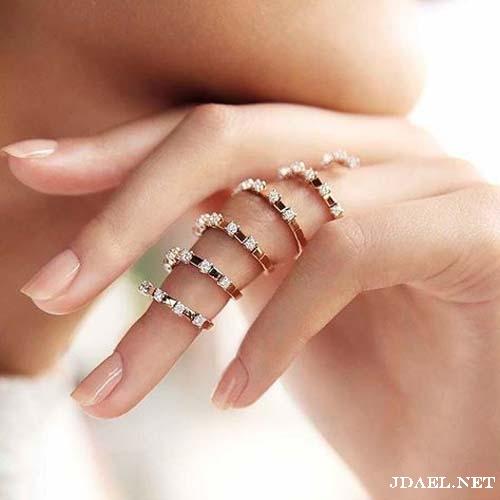 خواتم طويلة الماس انيقة وفخمة