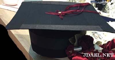 عمل قبعة التخرج بالورق والكرتون