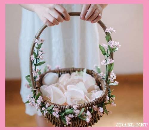 اروع سلال الورد للبنات في ليلة الزفاف