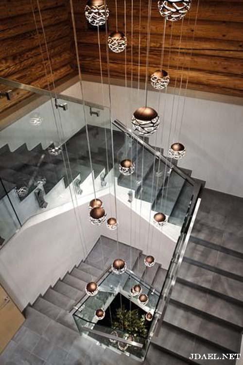 اضائات عصرية للدرج والسلالم