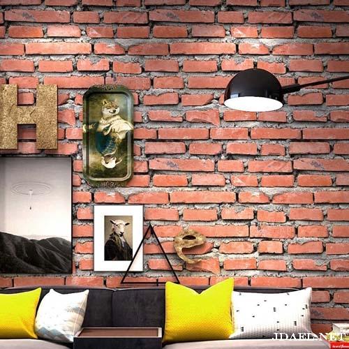 ورق جدران طوب وحجر للتصميم الداخلي