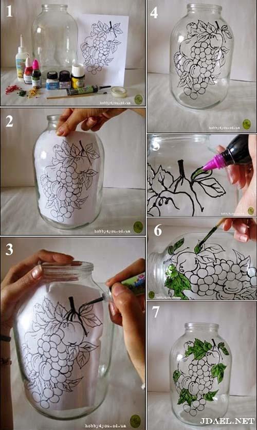 افكار سهلة للرسم على الزجاج بالصور والباترون