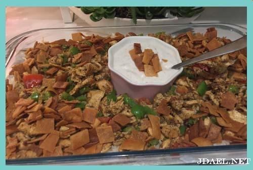 طريقة عمل فتة رز بطعم شاورما الدجاج