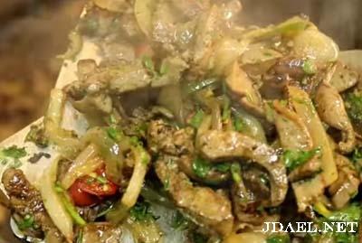 طبخ مقلقل اللحم والكبدة بطريقة ناجحة